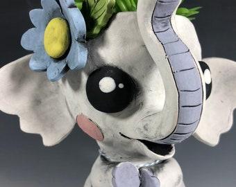 Adorable Elephant Pothead // Ceramic Elephant Planter