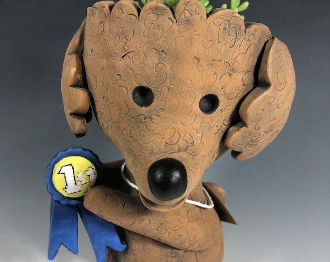 Best in Show Pup Pothead //  Dog Ceramic Planter