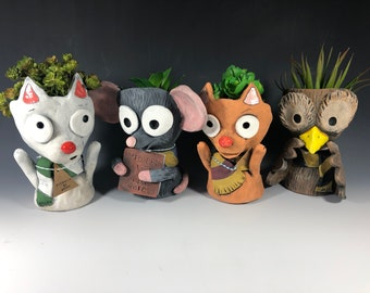 Harry Potter Inspired Animal Friends // Succulent Planter