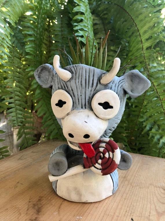 Peppermint the Ceramic Goat Planter // Adorable Goat Pothead