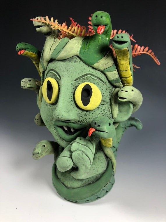 Medusa Gorgon Sister Succulent Planter // Snake Lady Succulent Pot