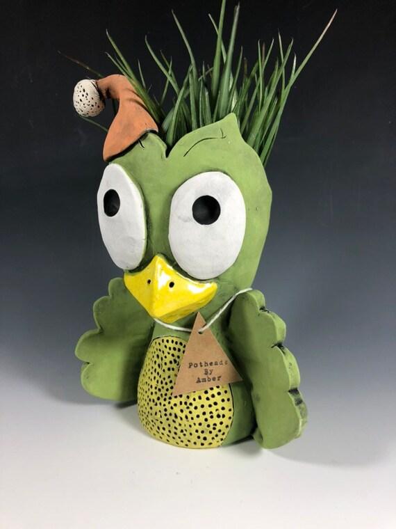 Harvey Green Owl Pothead // Adorable Owl Succulent Planter