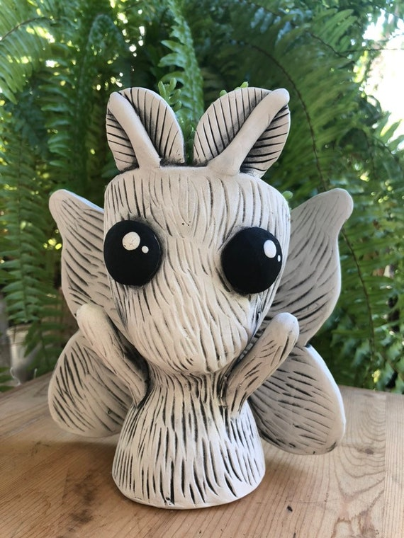Mott the Adorable Moth Planter // Ceramic Moth Pothead