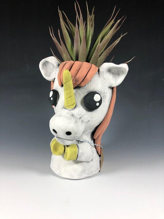 Lovely Little Unicorns // Ceramic Unicorn Planters // Pothead