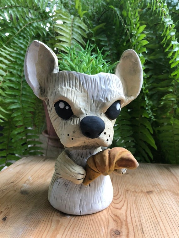 French Bulldog Planter // Ceramic Dog Pot // Matisse // Pothead