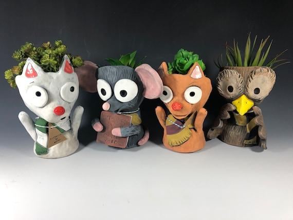 Harry Potter Inspired Animal Friends // Succulent Planter // Pothead