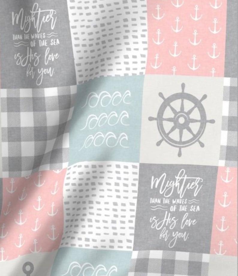 Nautical Girl Girl Crib Sheet Nautical Nursery Girl Blanket Girl Changing Pad Cover