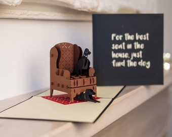 Labradors Pop Up Card For Dog Lovers Birthday Cards Black Labrador Mothers Day Handmade UK