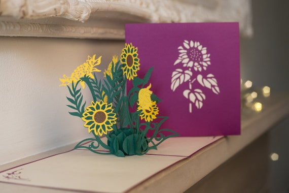 Sunflowers Pop Up Card Mothers Day Cards