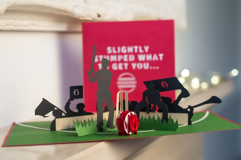 Cricket Pop Up Card 3D Birthday Gifts
