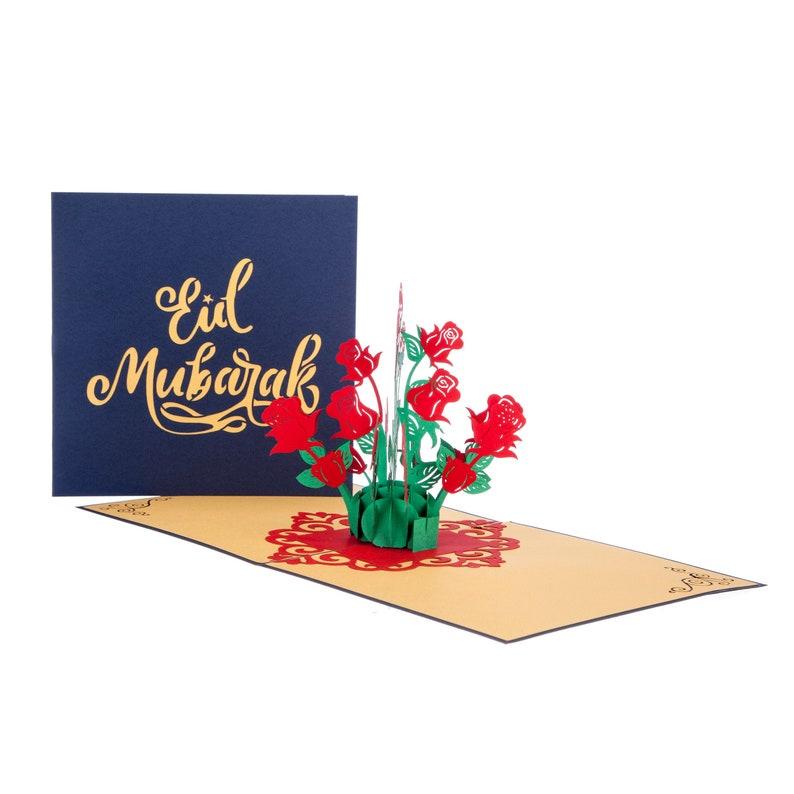 eid mubarak pop up card ramadan mubarak greetings card in