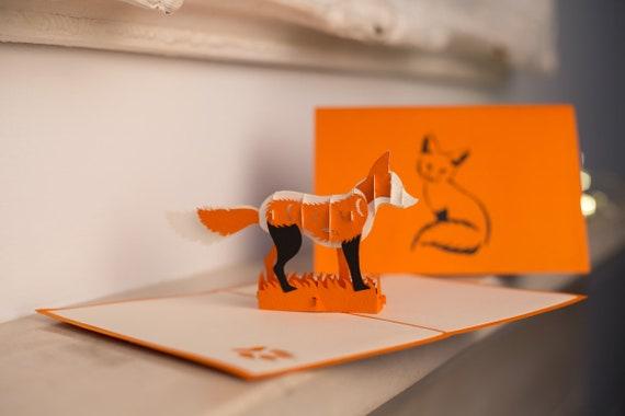 Fox Pop Up Card Birthday Cards For Friends Animal
