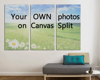 Your OWN Photos On Canvas Split, 3 Panels Canvas Wall Art, Decoration For  Your Home Or Office For Interior, Decor, Photo Gift
