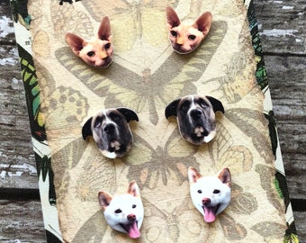 Custom Pet Earrings- Dogs, Cats, Rabbits, Anything!