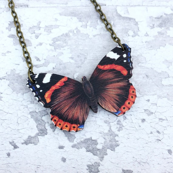 Red Butterfly Necklace