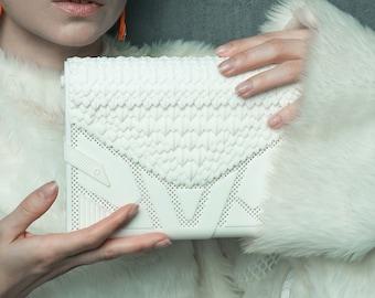 White Dragon 3D Printed Clutch