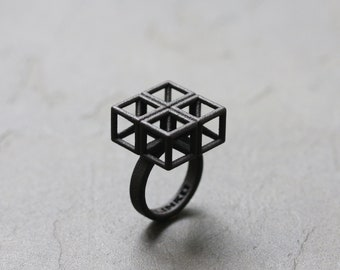 SQUARE PUZZLE 3D Printed Ring