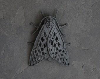 3D Printed Black Moth Pendant