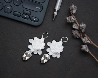 Oversized 3D Printed Rose Hip Earrings