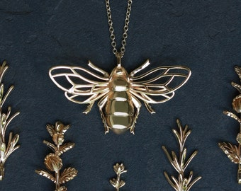 Golden Bee Pendant