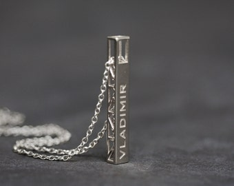 3D Printed Personalized Pendant for Men