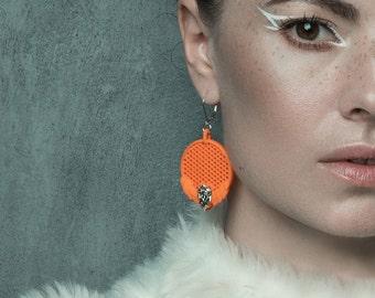 White Dragon 3D Printed Earrings