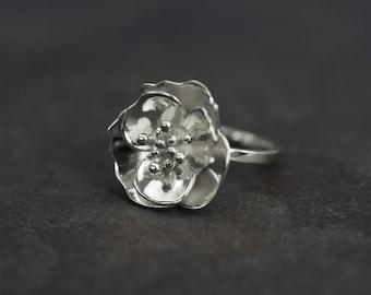 Silver Blossom Ring
