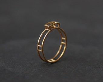 Golden Gem ring