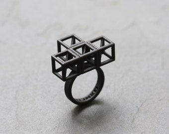 T Puzzle 3D Printed Ring