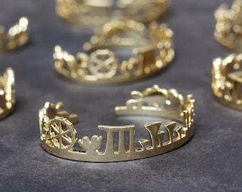 Singapore Skyline Bracelet Gold Plated