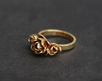 Gold Magnolia Ring