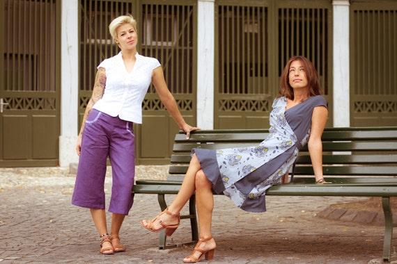 Pret Express 911 >> SOLDES 50% Lime violet un pantacourt en lin tissé à la | Etsy