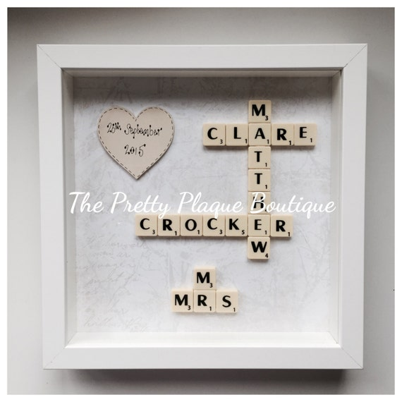 Scrabble Frame Scrabble Letter Frame Personalised Wedding Etsy