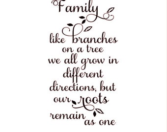 Family Vinyl Decal For Wine Bottle Inspirational Quote