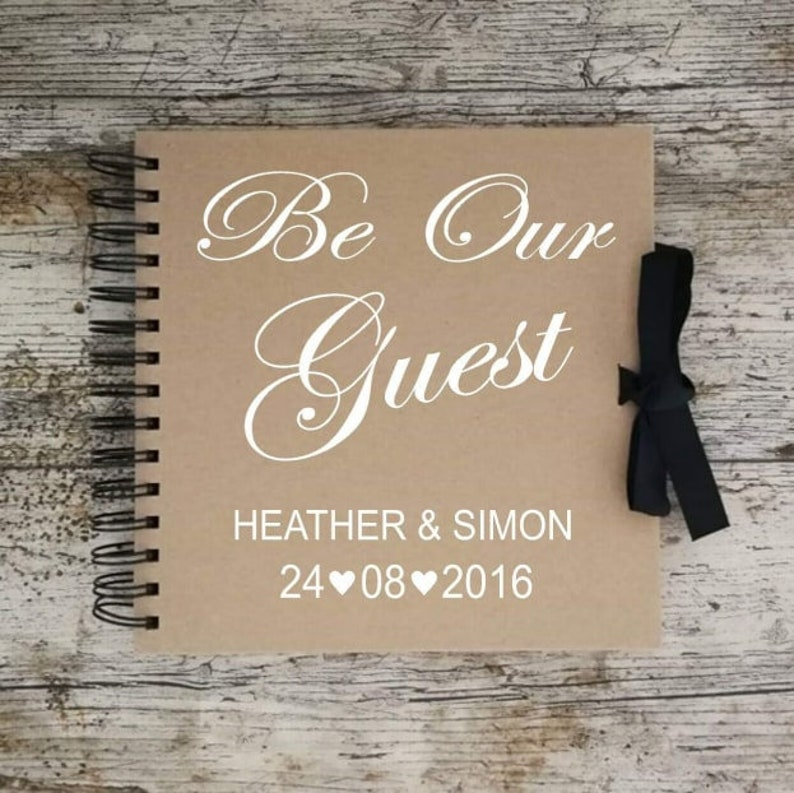 Be Our Guest wedding scrapbook,memory book,personalised,guest book,memories,stories,letters,photo book,newlyweds,couple,love,gift
