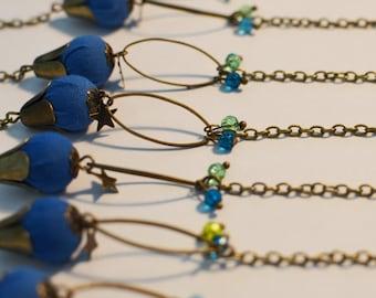Vintage electric blue bracelet