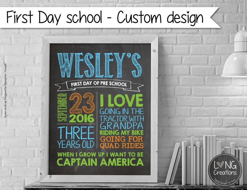 First day of school  Back To School Sign  Printable Photo image 0