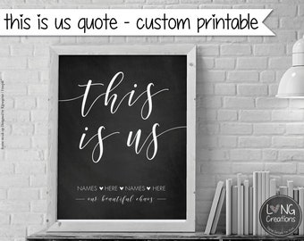 this is us quote printable - custom printable - Typography Sign - anniversary gift - custom design - personalized art