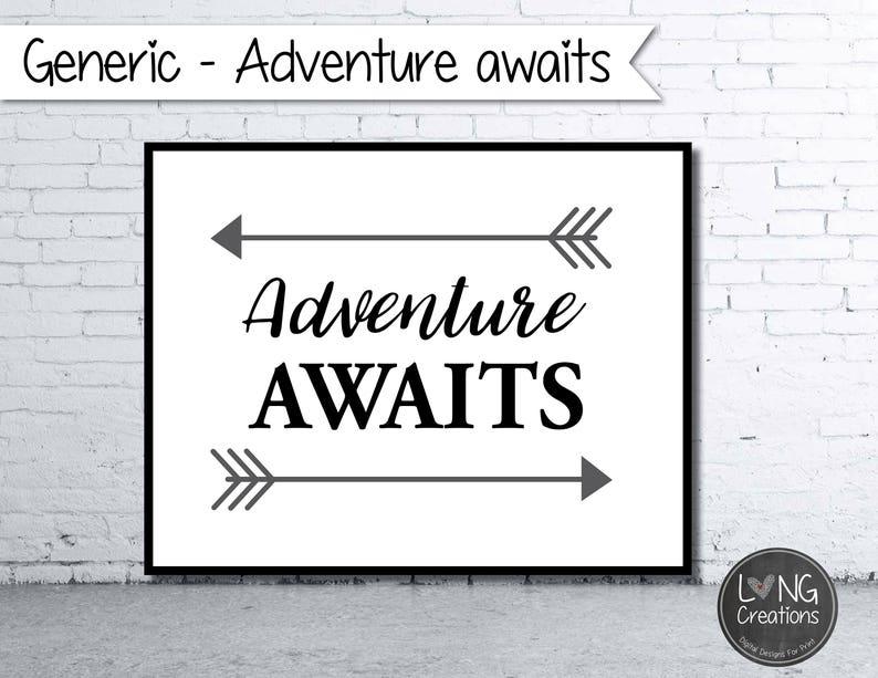 adventure awaits print  arrow printable  nursery sign  image 0