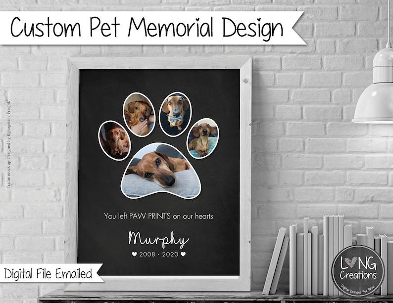 Custom pet memorial  dog / cat loss gift  Pet Bereavement image 0