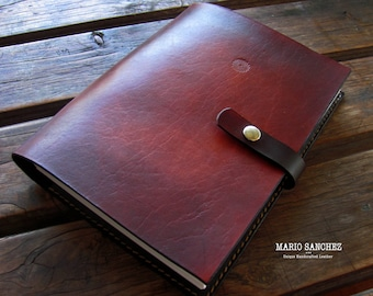 Genuine 2mm thick Veg-tanned Full Grain Cow Leather Journals -  A5