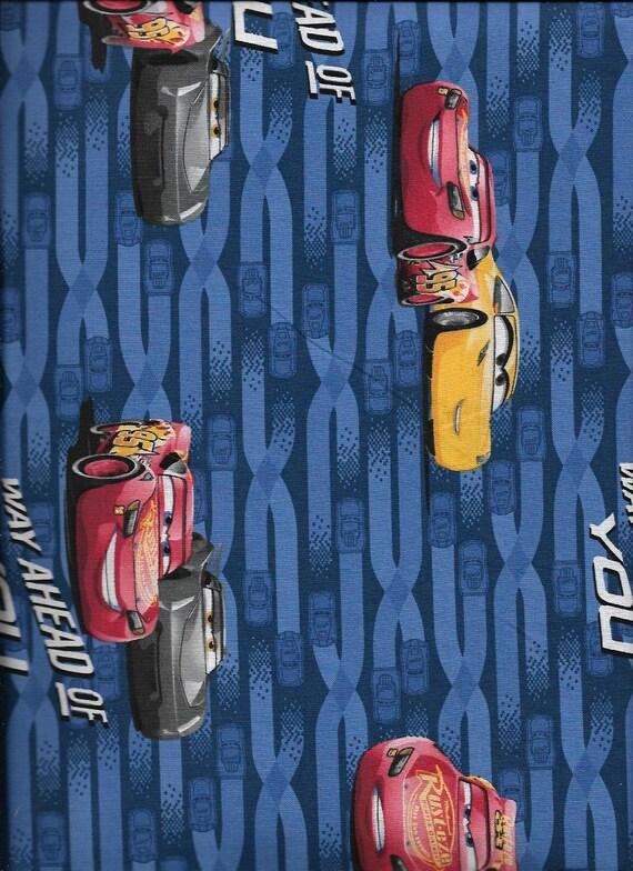 Disney Pixar Cars 3 Way Ahead Of You Mcqueen /& Cruz 100/% Cotton Patchwork Fabric