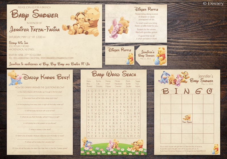 124fe28f81a5 Winnie the Pooh Baby Shower Suite