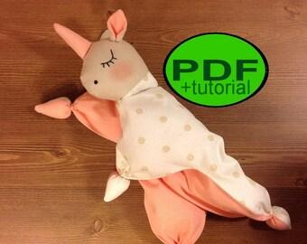 unicorn comforter waldorf doll pattern unicorn pattern tutorial Baby First Toy comforter pattern Baby toy pattern diy unicorn sewing pattern
