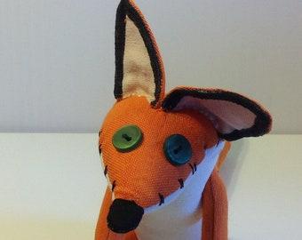 The Little prince fox plush toy cartoon fox kids gift little fox orange fantasy fox stuff animal softie le petit prince fox plushie