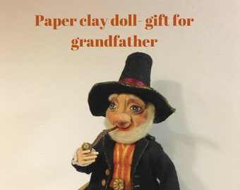 OOAK doll OOAK art doll Paper clay doll Clay doll Collectible doll Sculpted doll decorative doll artist doll Interior doll Human figure doll
