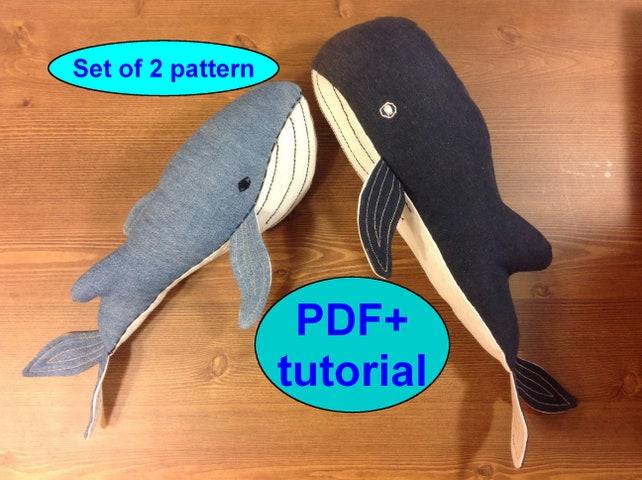 Stuff animals pattern whale pattern whale sewing pattern soft   Etsy