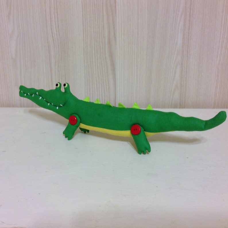 Crocodile sewing pattern /& tutorial PDF crocodile pattern Stuffed animal toy sewing pattern