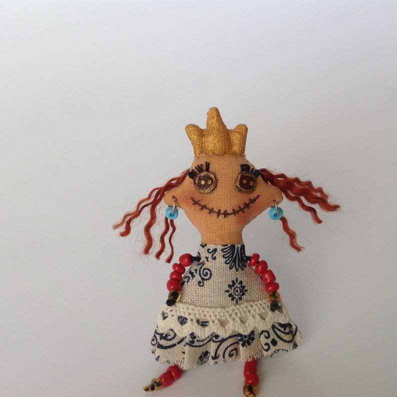 OOAK Art Doll brooch