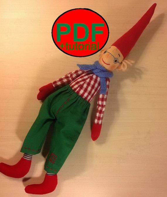Christmas Elf Pattern Scandinavian Gnome Rag Dolls Pattern Etsy